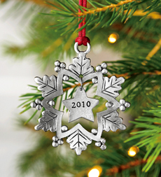 Plow & Hearth - Pewter Ornaments